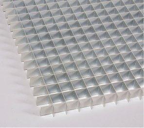 Flat Blade Aluminum Eggcrate Louver